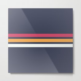 Classic Retro Stripes 2 Metal Print