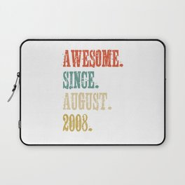 Awesome Since August 2008 10 Year Old Vintage Gift Laptop Sleeve