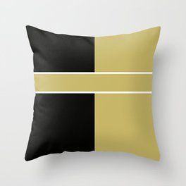 Team Color 6...black,gold Throw Pillow