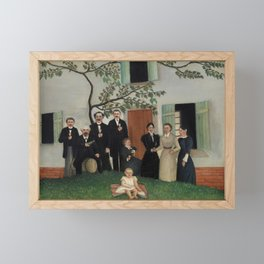 The Family (La Famille) (ca. 1890–1900) by Henri Rousseau. Framed Mini Art Print