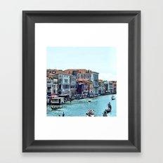 Along the Grand Canal Framed Art Print