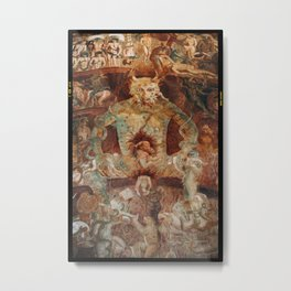 The last judgment hell by francesco Traini campo santos Pisa Italy Metal Print
