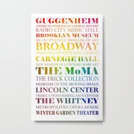 New York City - arts in color Metal Print