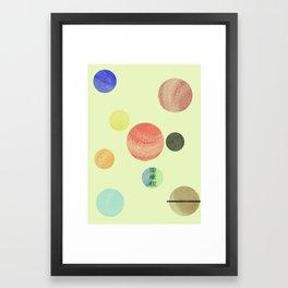 Minimal Solar System #2 Framed Art Print