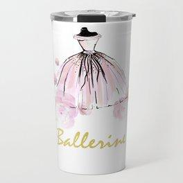 Ballerina And Flowers Travel Mug