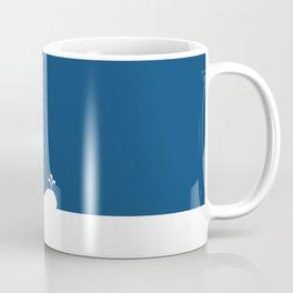 Whale in Blue Ocean with a Love Heart Coffee Mug