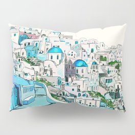 Santorini Oia Pillow Sham