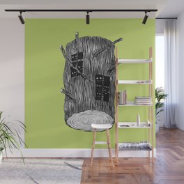Mysterious Forest Creatures In Tree Log Wall Mural