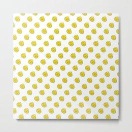 Lemon Rain Metal Print