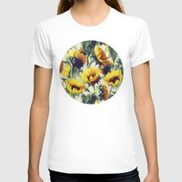 sunflower T-shirts featuring Sunflowers Forever by micklyn