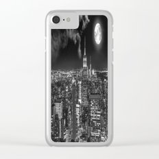 New York Under the Moon Clear iPhone Case