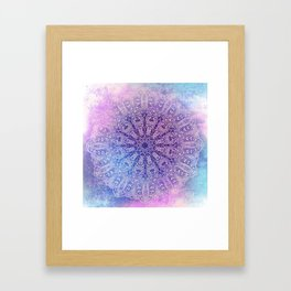 big paisley mandala in light purple Framed Art Print