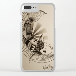 Untitled Koi #1 Clear iPhone Case