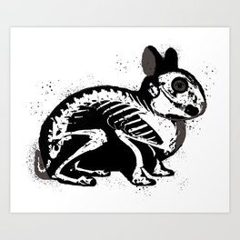 Death Bunny Art Print