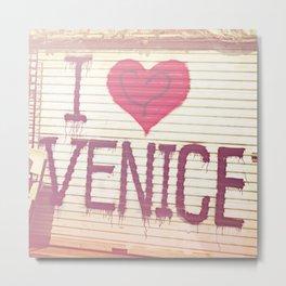 I Love Venice Metal Print