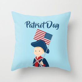 US flag held high for those who died - Patriot Day - September 11 Throw Pillow