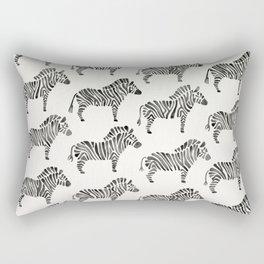 Zebras – Black & White Palette Rectangular Pillow