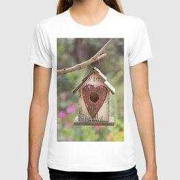 bird house in summer garden T-shirt