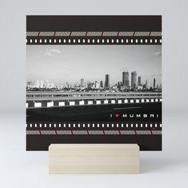 I Love Mumbai- BW Mumbai Skyline Mini Art Print