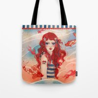 pirate Tote Bags featuring Pirate by Minasmoke