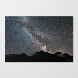 Night in Switzerland Canvas Print