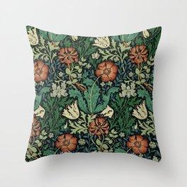 William Morris Compton Floral Art Nouveau Pattern Throw Pillow