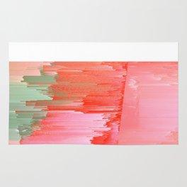 Romance Glitch - Pink & Living coral Rug