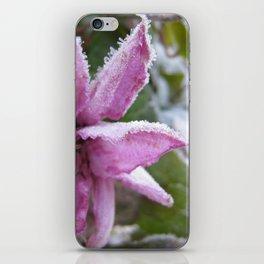 Frozen flower iPhone Skin