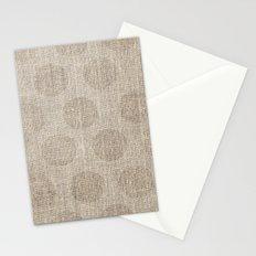 Poka dot burlap (Hessian series 2 of 3) Stationery Cards