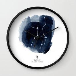 Zodiac Star Constellation - Virgo Wall Clock