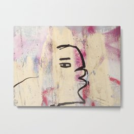 Graffiti kiss Metal Print