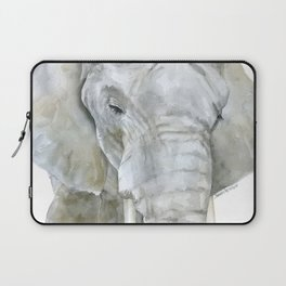 Elephant Watercolor Painting - African Animal Laptop Sleeve