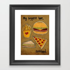 My Biggest Love Framed Art Print