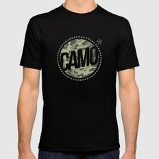 Camo SMALL Mens Fitted Tee Black
