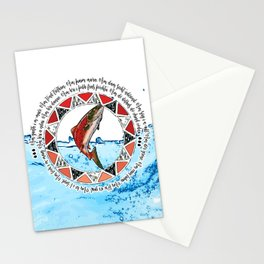 Salmon Spirit Animal Stationery Cards