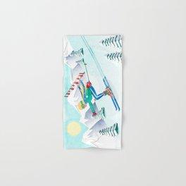 Skiing Girl Hand & Bath Towel