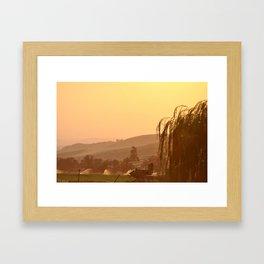 SUNSET OVER EASTERN OREGON Framed Art Print