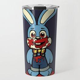 Blue Robbie the Rabbit Travel Mug