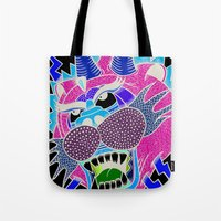 panther Tote Bags featuring panther by Karlosh