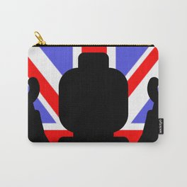 MINIFIG WITH UNION JACK by Chillee Wilson Carry-All Pouch
