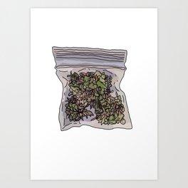 Pack of weed Art Print