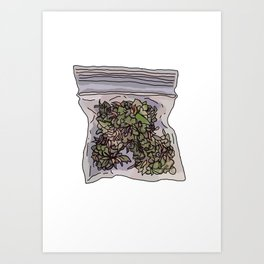 Pack of weed Art Print