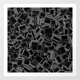 The Book Pile Art Print