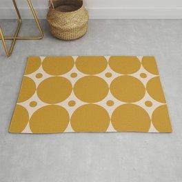 Futura Mid-century Modern Minimalist Abstract Pattern in Mustard Gold Rug