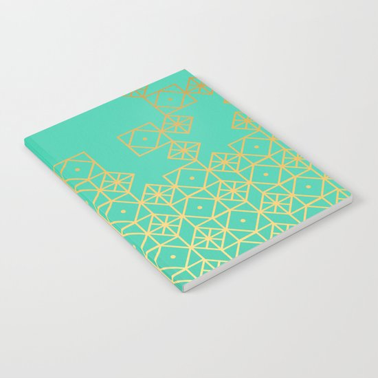 Geometric Turquoise Notebook