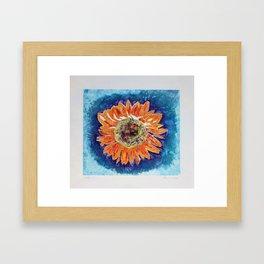 Orange Sunflower Framed Art Print