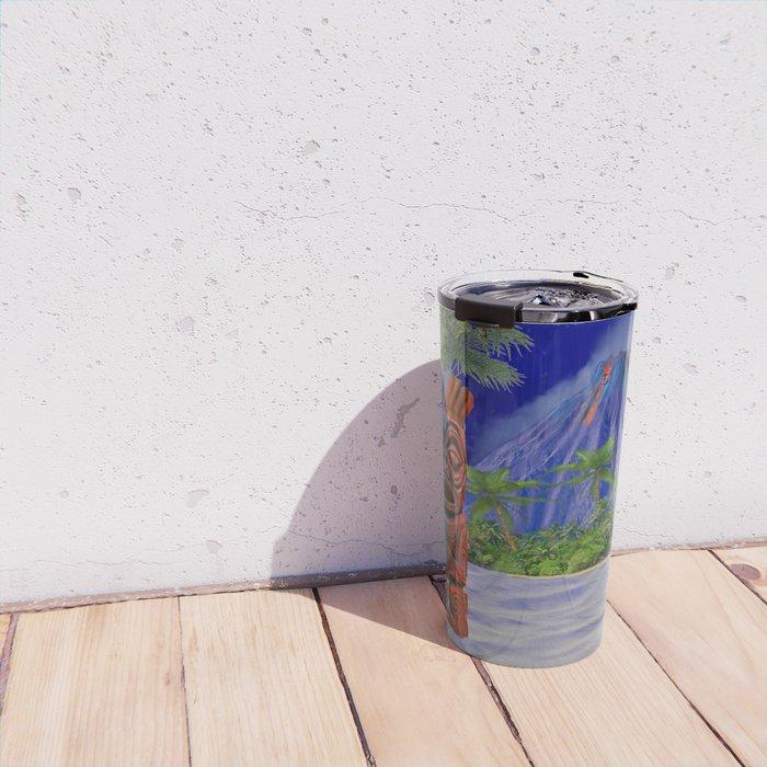 Tiki Art Background Travel Mug