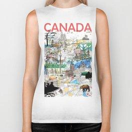 Canada (portrait version) Biker Tank