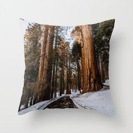 Walking Sequoia 5 Throw Pillow