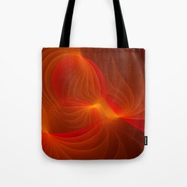 Much Warmth, Abstract Fractal Art Tote Bag